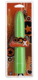 Грас. Вибромассажер BASICX MULTISPEED VIBRATOR GREEN 7INCH